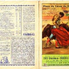 Coleccionismo de carteles: PROGRAMA TOROS FALLAS 1957. Lote 6743389