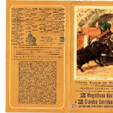 Coleccionismo de carteles: PROGRAMA TOROS FALLAS 1961. Lote 6753762