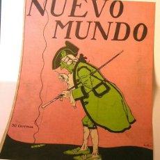 Coleccionismo de carteles: CUBIERTA ORIGINAL LITOGRAFICA DE NUEVO MUNDO.CIRCA 1920-. Lote 7066589