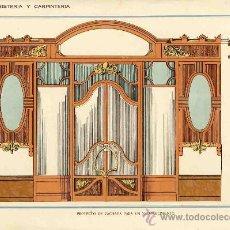 Coleccionismo de carteles: LAMINA DE DECORACION DE EBANISTERIA Y CARPINTERIA (NUM. 61). Lote 8142779