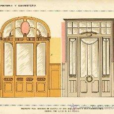 Coleccionismo de carteles: LAMINA DE DECORACION DE EBANISTERIA Y CARPINTERIA (NUM. 101). Lote 8142796
