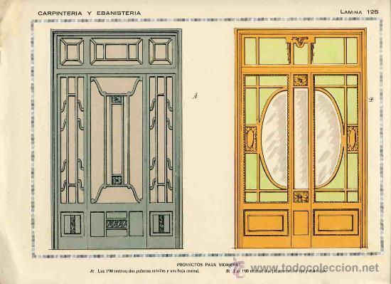 LAMINA DE DECORACION DE EBANISTERIA Y CARPINTERIA (NUM. 125) (Coleccionismo - Carteles Pequeño Formato)