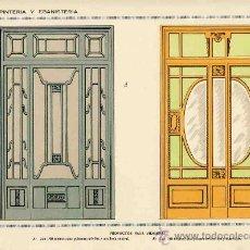 Coleccionismo de carteles: LAMINA DE DECORACION DE EBANISTERIA Y CARPINTERIA (NUM. 125). Lote 8142807