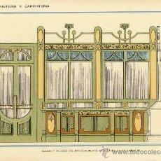 Coleccionismo de carteles: LAMINA DE DECORACION DE EBANISTERIA Y CARPINTERIA (NUM. 60). Lote 8142814