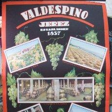 Coleccionismo de carteles: CARTEL PUBLICITARIO DE VALDESPINO. Lote 17067311