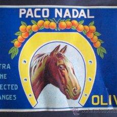 Coleccionismo de carteles: LAMINA CARTEL NARANJAS. -PACO NADAL - OLIVA.AÑOS 60. ENVIO GRATIS¡¡¡. Lote 10763506