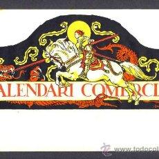 Coleccionismo de carteles: CALENDARI COMERCIAL: LAMINA PAPEL CON ILUSTRACION DE JUNCEDA DE SANT JORDI SAN JORGE. Lote 222363466