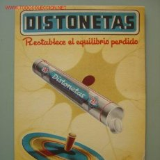 Collectionnisme d'affiches: DISTONETAS, RESTABLECE EL EQUILIBRIO PERDIDO, LABORATORIOS FARBIOS S.A.. Lote 94720826
