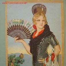 Coleccionismo de carteles: PRECIOSO CARTEL LITOGRAFICO. Lote 11429410
