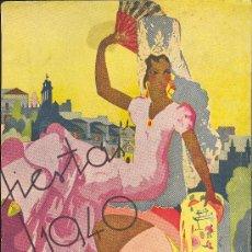 Coleccionismo de carteles: CARTEL LITOGRAFICO DE FIESTA 1940. Lote 10116674