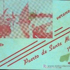 Coleccionismo de carteles: CARTEL LITOGRAFICO VERANEAD EN PTO. STA. MARIA 1939. Lote 10116777