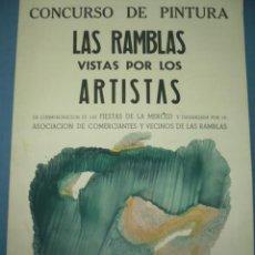 Coleccionismo de carteles: CARTEL PEQUEÑO TAMAÑO CONCURSO DE PINTURA TAMAÑO 480X340. Lote 10820892