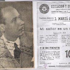 Coleccionismo de carteles: OBRA SINDICAL EDUCACION Y DESCANSO **HOMENAJE A J. MARTI AMBOU** -AÑO 1944 --DEDICATORIA FIRMADA --. Lote 10824105