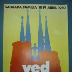 Coleccionismo de carteles: CARTEL PEQUEÑO FORMATO TEMPLE SAGRADA FAMILIA . Lote 10827217