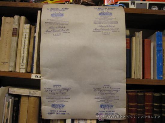 6 PLIEGOS PUBLICITARIOS - CHOCOLATE LA INDUSTRIAL LUCENSE- APROX 1930 50X35CM -TFN 4 CIFRAS LUGO + (Coleccionismo - Carteles Pequeño Formato)