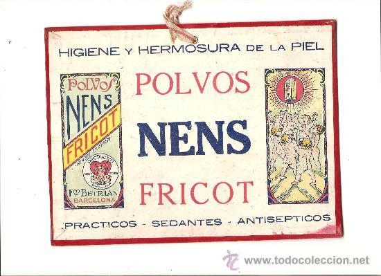 PUBLICIDAD POLVOS NENS FRICOT – TALCO – AÑOS 30 (Coleccionismo - Carteles Pequeño Formato)