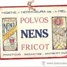 Coleccionismo de carteles: PUBLICIDAD POLVOS NENS FRICOT – TALCO – AÑOS 30. Lote 150084588