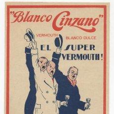 Coleccionismo de carteles: ANTIGUO CARTEL DE CINZANO BLANCO LICOR VERMOUTH. Lote 24949651