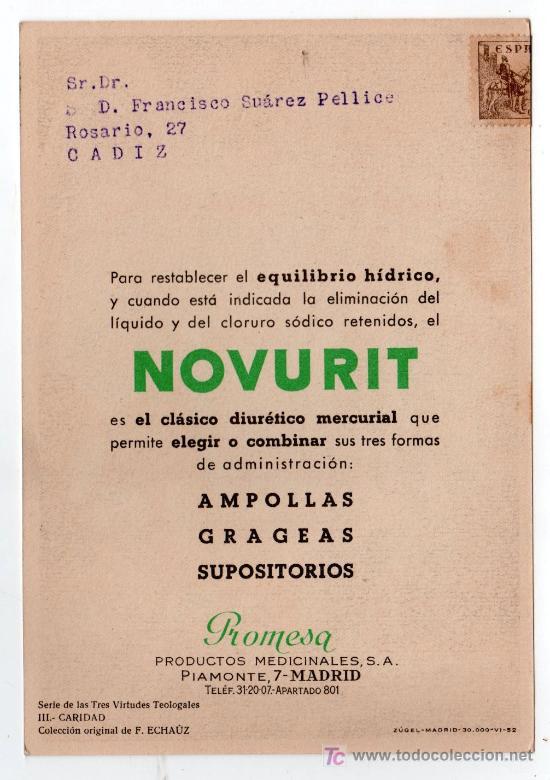 Coleccionismo de carteles: LAMINA PUBLICITARIA FARMACIA. MEDICINA AÑOS 50. CONTIENE FOTOGRAFIA DEL REVERSO - Foto 2 - 13611332