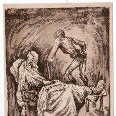 Coleccionismo de carteles: LAMINA PUBLICITARIA FARMACIA. MEDICINA AÑOS 50. CONTIENE FOTOGRAFIA DEL REVERSO . Lote 13624740