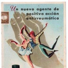 Coleccionismo de carteles: LAMINA PUBLICITARIA FARMACIA. MEDICINA AÑOS 50. CONTIENE FOTOGRAFIA DEL REVERSO . Lote 13624855