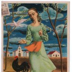 Coleccionismo de carteles: LAMINA PUBLICITARIA FARMACIA. MEDICINA AÑOS 50. CONTIENE FOTOGRAFIA DEL REVERSO . Lote 13625089