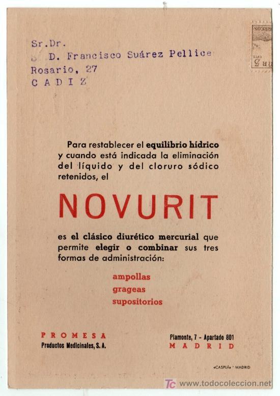 Coleccionismo de carteles: LAMINA PUBLICITARIA FARMACIA. MEDICINA AÑOS 50. CONTIENE FOTOGRAFIA DEL REVERSO - Foto 2 - 13624784