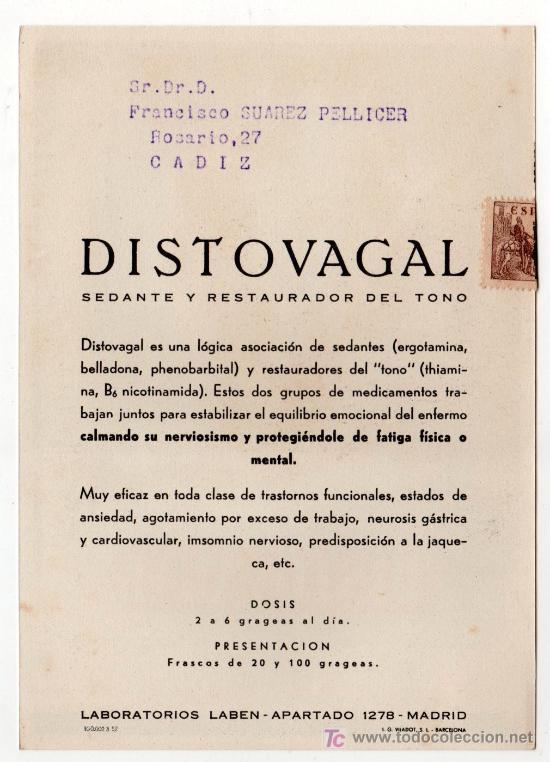 Coleccionismo de carteles: LAMINA PUBLICITARIA FARMACIA. MEDICINA AÑOS 50. CONTIENE FOTOGRAFIA DEL REVERSO - Foto 2 - 13624941