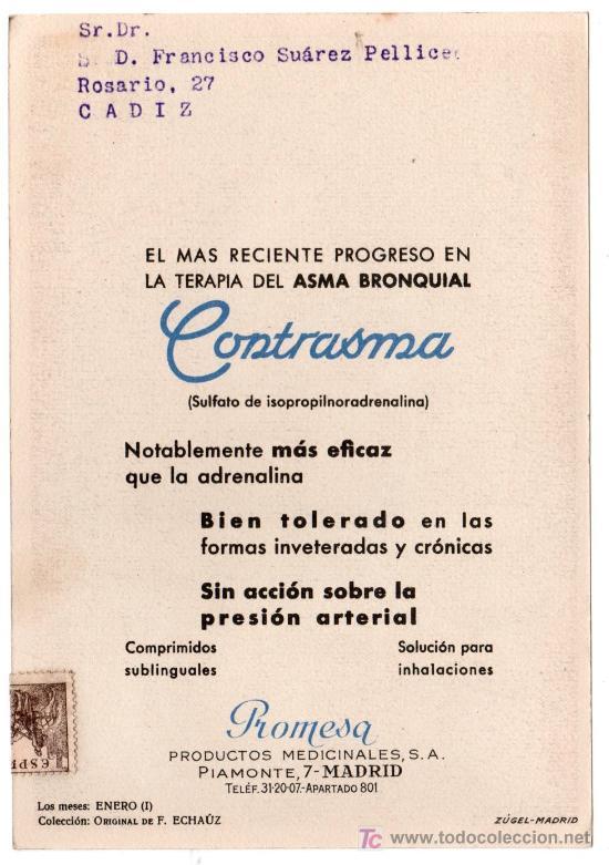 Coleccionismo de carteles: LAMINA PUBLICITARIA FARMACIA. MEDICINA AÑOS 50. CONTIENE FOTOGRAFIA DEL REVERSO - Foto 2 - 13625151