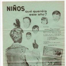 Coleccionismo de carteles: CARTEL PUBLICITARIO CHOCOLATES ELGORRIAGA AÑO 1961. Lote 30993971