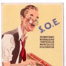 Coleccionismo de carteles: LAMINA PUBLICITARIA FARMACIA. MEDICINA AÑOS 50. CONTIENE FOTOGRAFIA DEL REVERSO . Lote 13927794