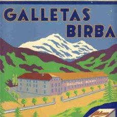 Coleccionismo de carteles: CARTEL PUBLICITARIO DE CARTON DE GALLETAS BIRBA DE CAMPRODON. Lote 240394105