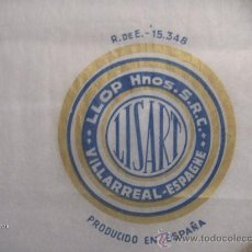Coleccionismo de carteles: PAPEL SEDA ANTIGUO NARANJAS LISART VILA-REAL. Lote 130056600