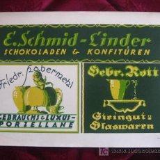 Coleccionismo de carteles: PUBLICIDAD EN ALEMANIA DE CHOCOLATE. LITOGRAFIA. AÑOS 30. SHILDER.KARL LÜTH/ KIEL. . Lote 17118348