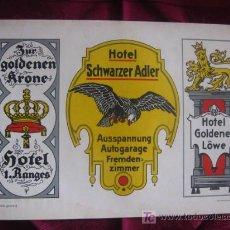 Coleccionismo de carteles: PUBLICIDAD EN ALEMANIA ,HOTEL . LITOGRAFIA.AÑOS 30.SHILDER.KARL LÜTH/KIEL . Lote 17156485