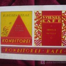 Coleccionismo de carteles: PUBLICIDAD EN ALEMANIA , PASTELERIA Y CAFE . LITOGRAFIA.AÑOS 30.SHILDER.KARL LÜTH/KIEL . Lote 17156504