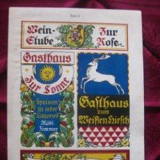 Coleccionismo de carteles: PUBLICIDAD EN ALEMANIA DE VINO, ALIMENTACION.. LITOGRAFIA. AÑOS 30. SHILDER.KARL LÜTH/KIEL . Lote 17159527