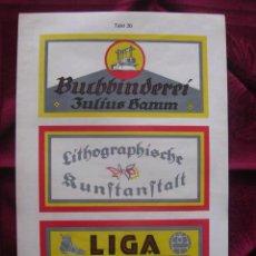 Coleccionismo de carteles: PUBLICIDAD EN ALEMANIA LIBRERIA,IMPRENTA,LIGA DEPORTES.LITOGRAFIA.AÑOS 30.SHILDER.KARL LÜTH/KIEL . Lote 17171704