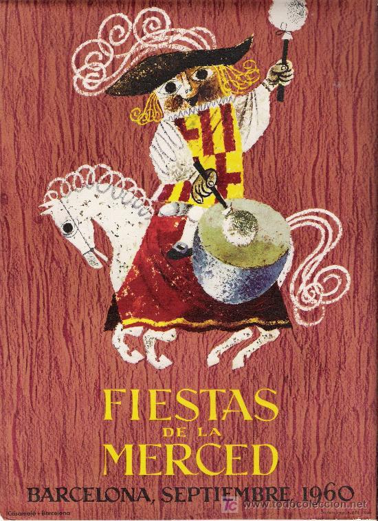 FIESTAS DE LA MERCED 1960 (Coleccionismo - Carteles Pequeño Formato)