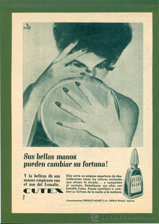 anuncio esmalte de uñas ** cutex ** (1961) - co - Comprar Carteles ...
