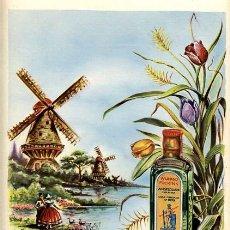 Coleccionismo de carteles: CARTEL PUBLICIDAD GINEBRA FOCKINK , AMSTERDAM HOLANDA , MZ 21. Lote 26554513