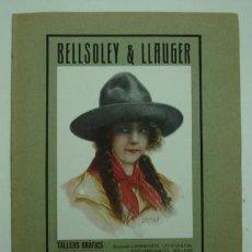 Coleccionismo de carteles: BELLSOLEY & LLAUGER, TALLERS GRÀFICS. IMPRENTA, LITOGRAFIA, ENCUADERNACIO, RELLEUS. BARCELONA.. Lote 18875265