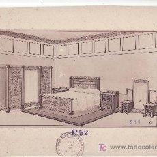Coleccionismo de carteles: CARTEL MUESTRA- PUBLICITARIA DE MUEBLES BENLLOCH. SANTA CRUZ DE TENERIFE.. Lote 24291672