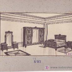 Coleccionismo de carteles: CARTEL MUESTRA- PUBLICITARIA DE MUEBLES. MODELO DORMITORIO.MAS COLECCIONISMO EN RASTRILLOPORTOBELLO. Lote 25212025
