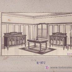 Coleccionismo de carteles: CARTEL MUESTRA- PUBLICITARIA DE MUEBLES.MAS COLECCIONISMO EN RASTRILLOPORTOBELLO. Lote 26268719