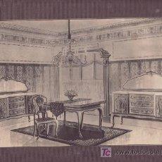 Coleccionismo de carteles: CARTEL MUESTRA- PUBLICITARIA MUEBLES.MAS COLECCIONISMO EN RASTRILLOPORTOBELLO. Lote 24621096