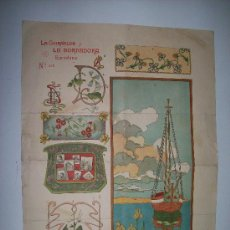 Coleccionismo de carteles: LA GUIRNALDA Y LA BORDADORA. ANTIGUA PUBLICIDAD Nº416 / BARCELONA. AÑO 1880 (APROX.). Lote 27286749