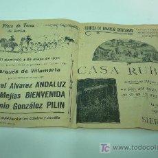 Coleccionismo de carteles: TOROS-SEVILLA. Lote 20949034