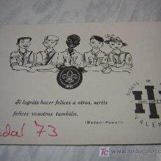 Coleccionismo de carteles: FELICITACION DE NAVIDAD SCOUTS DE ESPAÑA VALENCIA 1973 BON NADAL. Lote 27636587