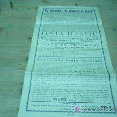 Coleccionismo de carteles: VILANOVA I LA GELTRU-FESTA D`ESTIU 1922. Lote 21134225